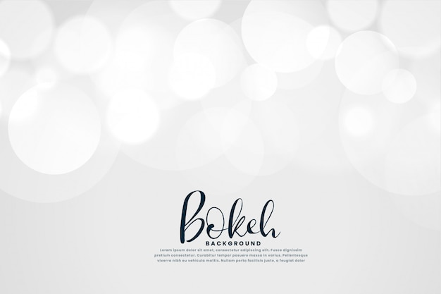 Sfondo bianco con effetto luci bokeh Vettore gratuito