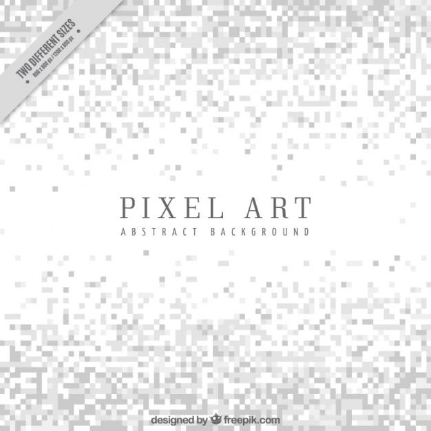Sfondo bianco di minimalista in stile pixel art Vettore gratuito