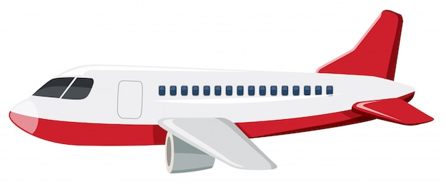 Sfondo bianco grande aeroplano Vettore Premium
