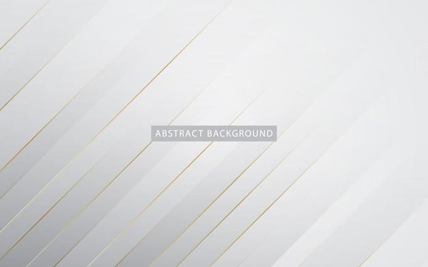 Sfondo bianco moderno con effetto elenco dorato Vettore Premium