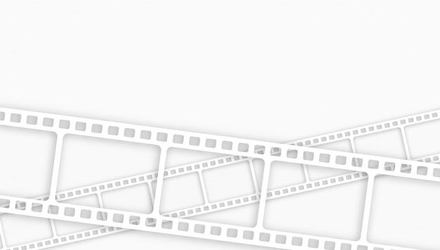 Sfondo bianco striscia di pellicola con lo spazio del testo Vettore gratuito