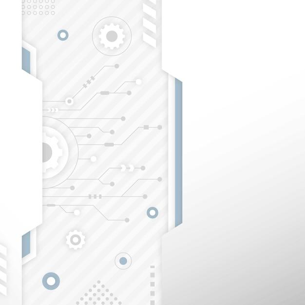 Sfondo bianco tecnologia con spazio di copia Vettore gratuito