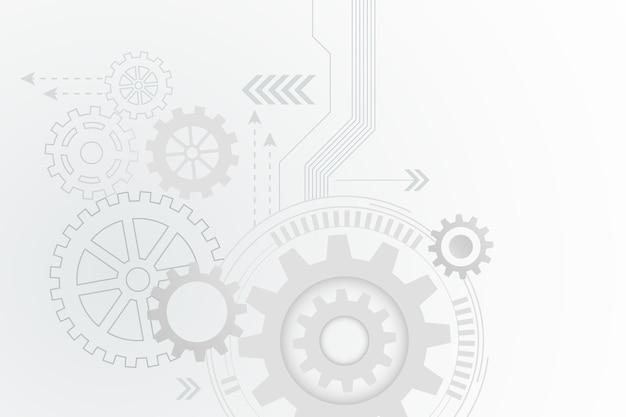 Sfondo bianco tecnologia Vettore gratuito