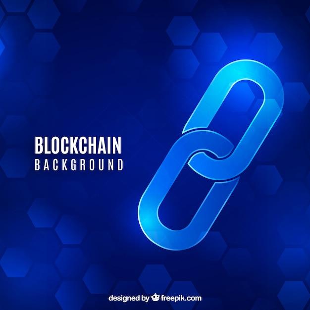 Sfondo blockchain Vettore gratuito