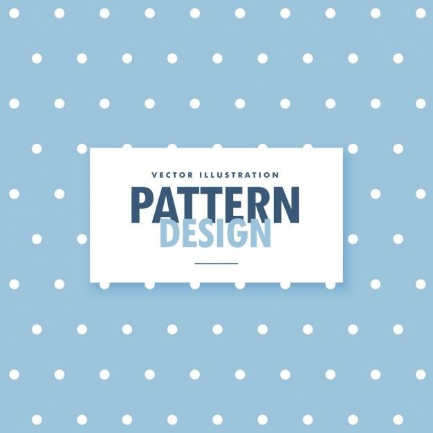 Sfondo blu carino con polka dots cerchio Vettore gratuito