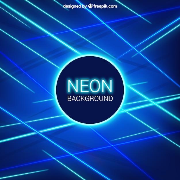 Sfondo blu con tubi fluorescenti Vettore gratuito