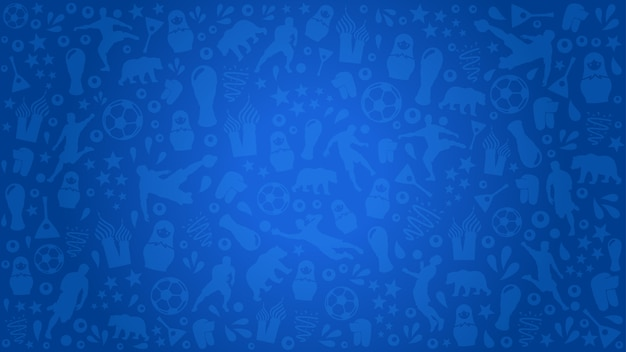 Sfondo Blu Di Calcio Scaricare Vettori Premium