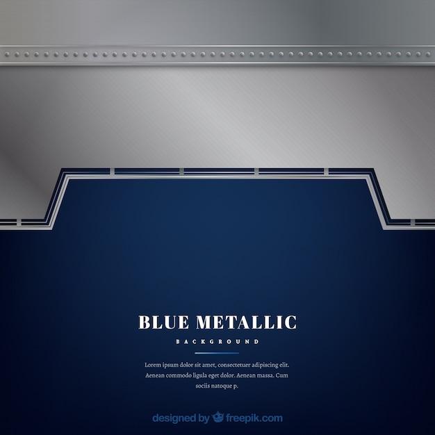 Sfondo Blu E Argento Metallizzato Scaricare Vettori Gratis