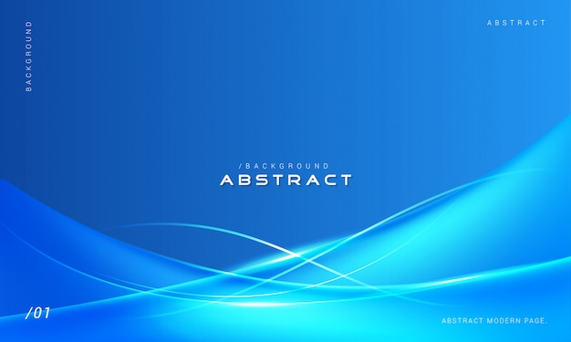 Sfondo blu elegante onde astratte Vettore Premium