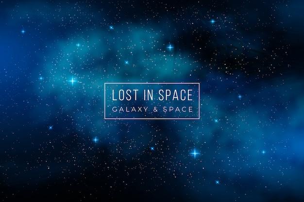 Sfondo blu galassia Vettore gratuito