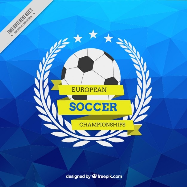 Sfondo Blu Poligonale Del Campionato Di Calcio Europeo Scaricare