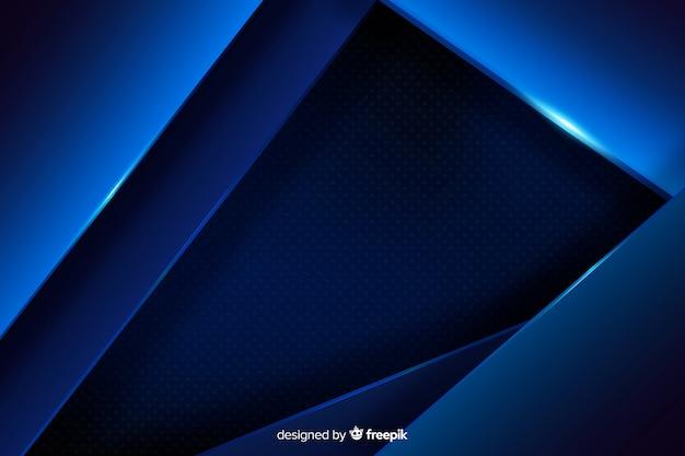 Sfondo blu scuro con effetto metallico Vettore gratuito