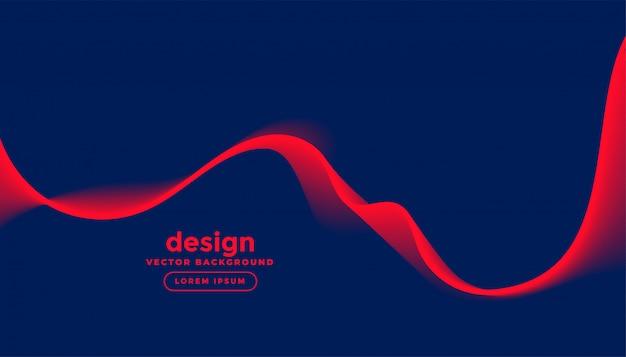 Sfondo blu scuro con onda rossa Vettore gratuito
