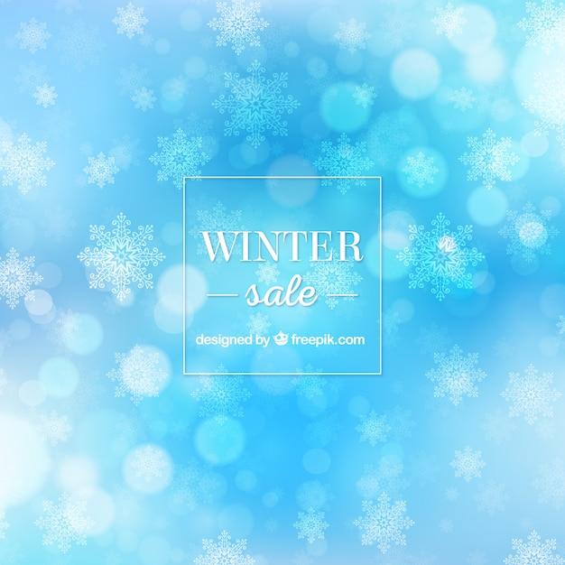 Sfondo blu vendita invernale Vettore gratuito