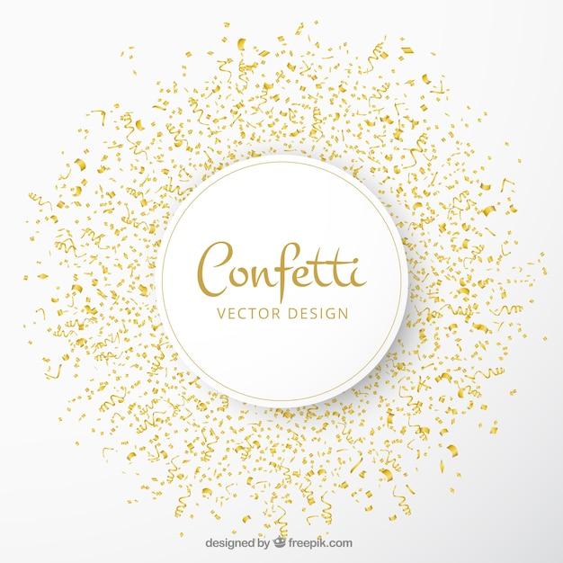 Sfondo celebrazione con coriandoli d'oro Vettore gratuito