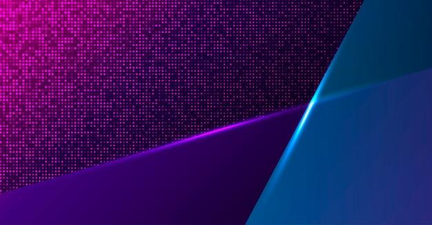 Sfondo colorato al neon geometrico Vettore Premium