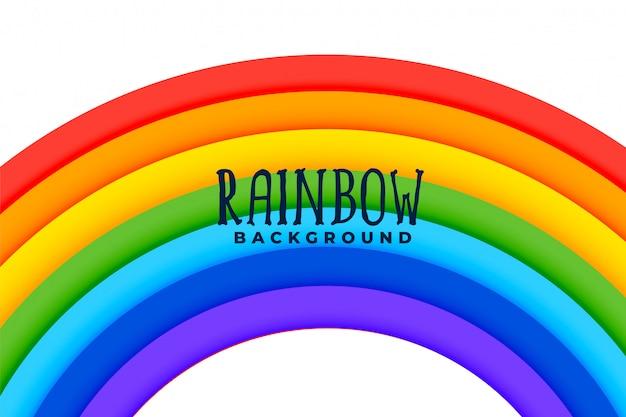 Sfondo colorato arcobaleno curvo Vettore gratuito