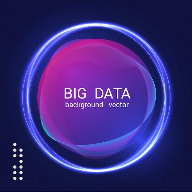 Sfondo colorato astratto di grandi quantità di dati Vettore Premium