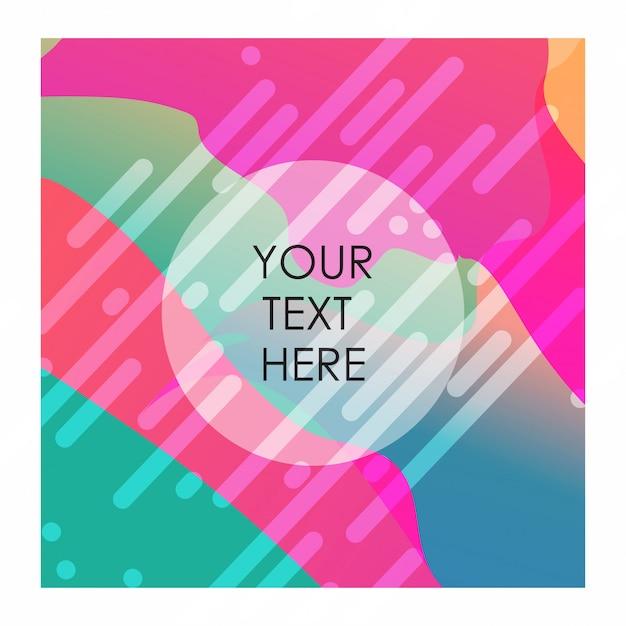Sfondo colorato con tipografia vettoriale Vettore gratuito