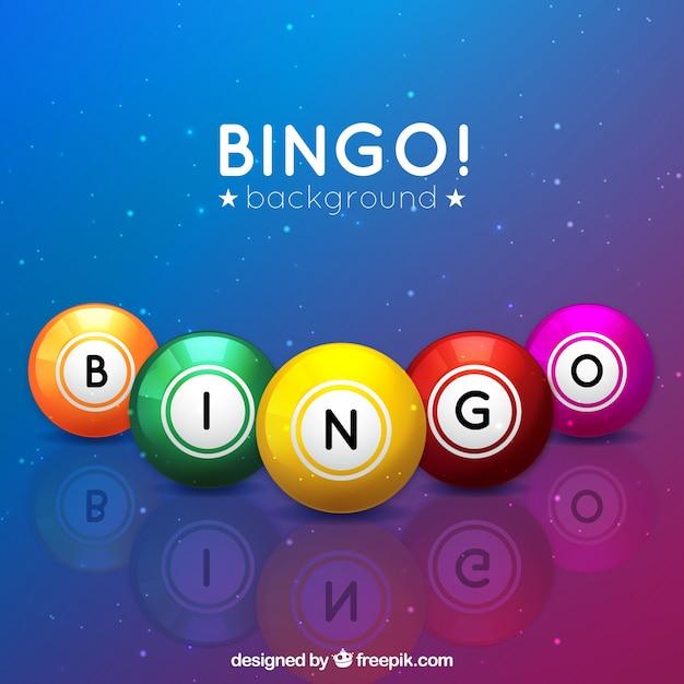 Sfondo colorato di palla di bingo Vettore gratuito