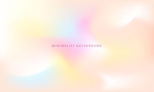 Sfondo colorato e minimalista Vettore Premium