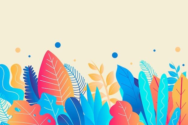 Sfondo colorato estate Vettore gratuito