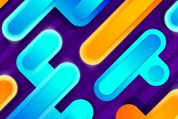 Sfondo colorato forme astratte Vettore gratuito