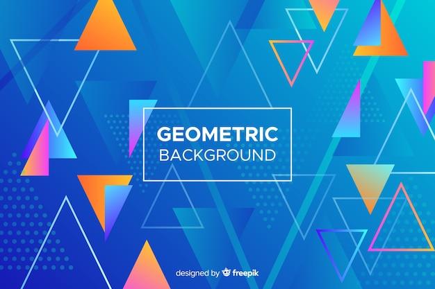 Sfondo colorato forme geometriche astratte Vettore gratuito