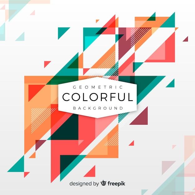 Sfondo colorato geometrico Vettore gratuito