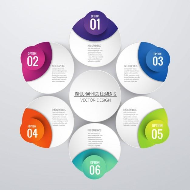sfondo colorato infografica Vettore gratuito