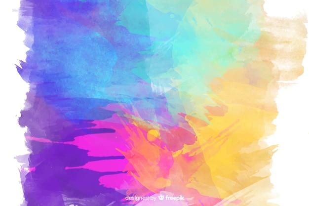 Sfondo colorato macchie di acquerello Vettore gratuito