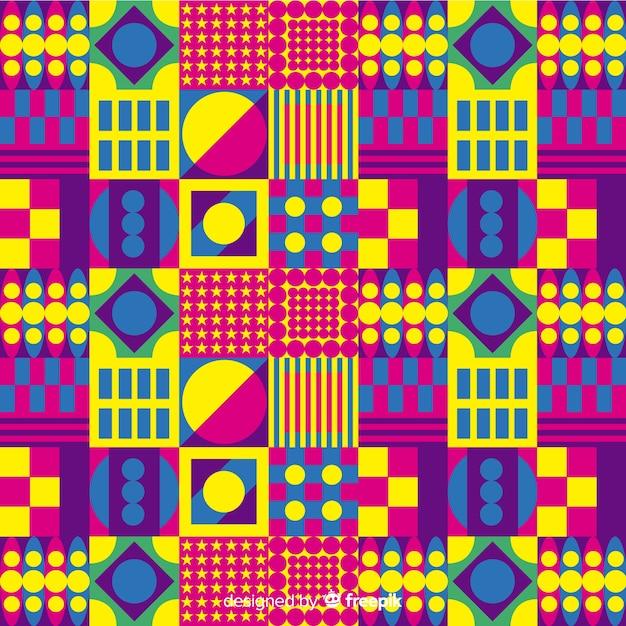 Sfondo colorato mosaico con forme geometriche Vettore gratuito