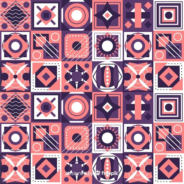 Sfondo colorato mosaico geometrico Vettore gratuito