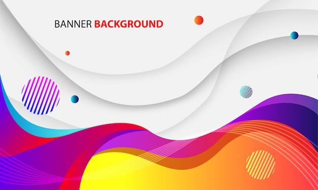 Sfondo colorato onda dinamica Vettore Premium