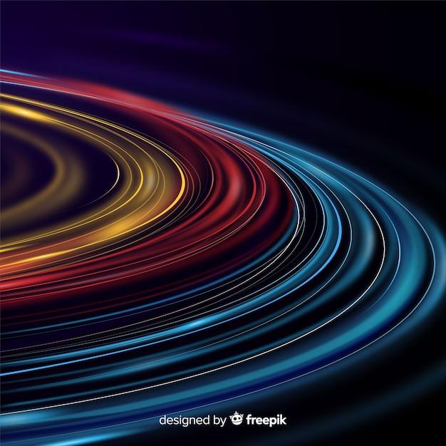 Sfondo colorato ondulato sentiero di luce Vettore gratuito