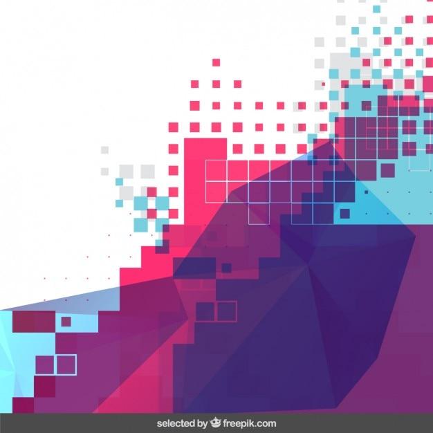 Sfondo colorato pixel Vettore gratuito
