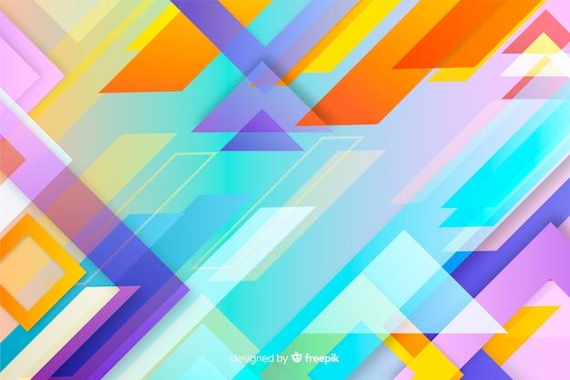 Sfondo colorato sfumato forme geometriche Vettore gratuito