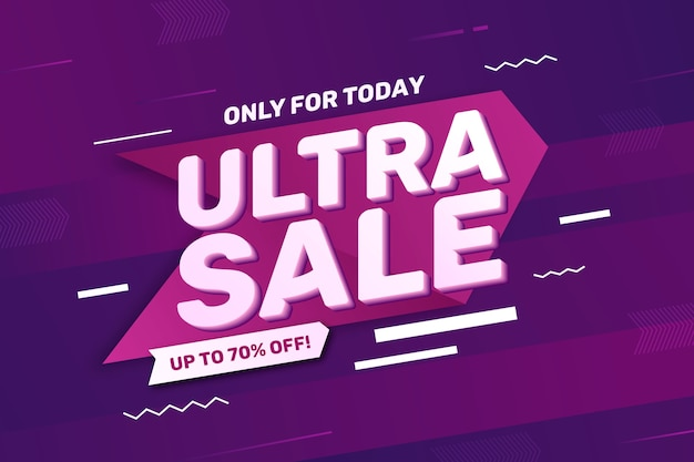 Sfondo colorato vendite 3d Vettore gratuito