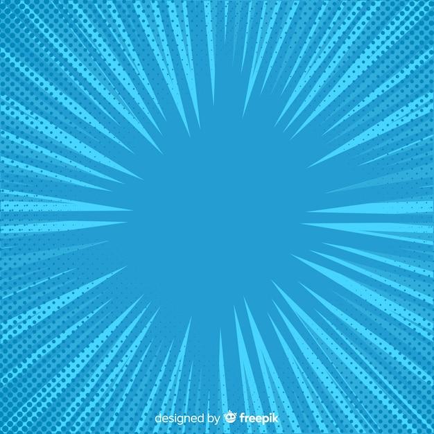 Sfondo comico di mezzitoni blu Vettore gratuito