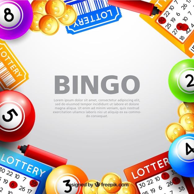 Sfondo con elementi di bingo Vettore gratuito