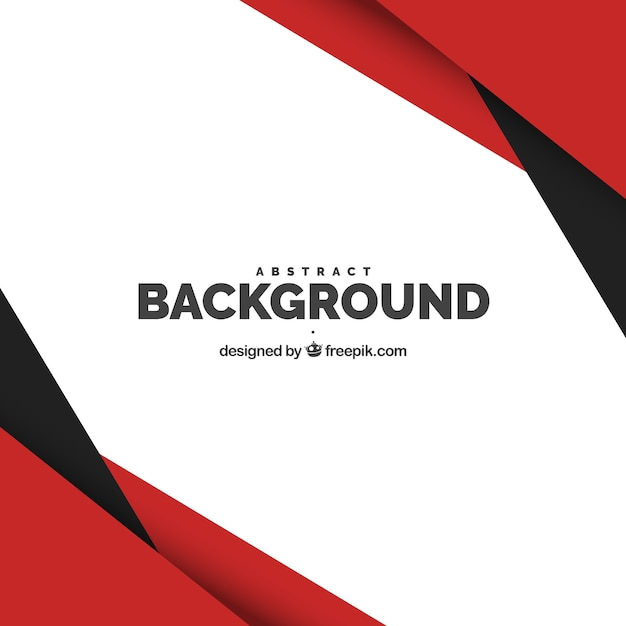 Sfondo con forme rosse e nere Vettore gratuito