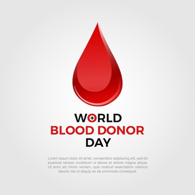 Sfondo con goccia di sangue Vettore gratuito