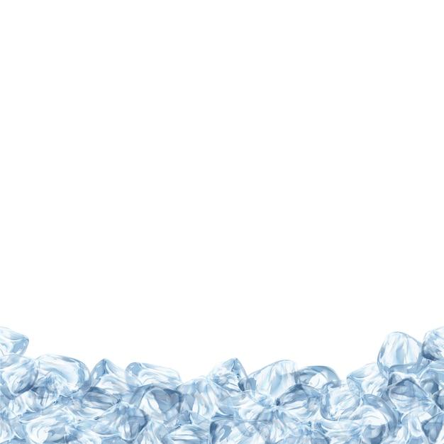 Sfondo con il disegno del ghiaccio Vettore Premium