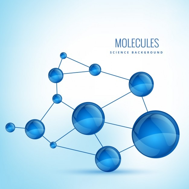 Sfondo con molecole forme Vettore gratuito