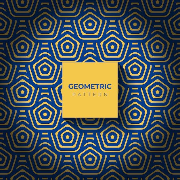 Sfondo con motivi geometrici astratti di esagono Vettore gratuito