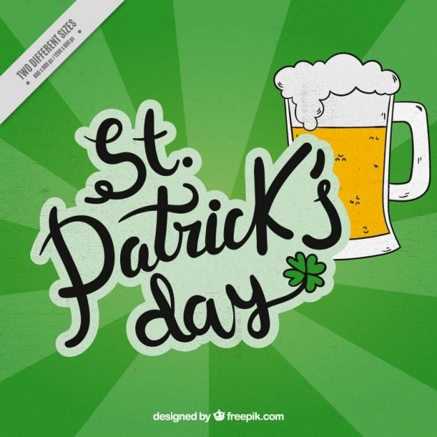 Sfondo con st birra giorno di patrick scaricare vettori - St patricks giorno fogli di colore giorno ...