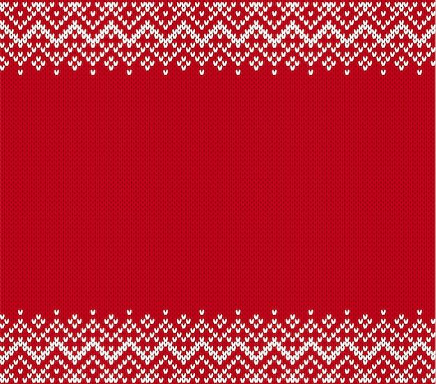 Sfondo con texture a maglia. knit ornamento geometrico con copyspace vuoto. motivo a maglia per un maglione Vettore Premium