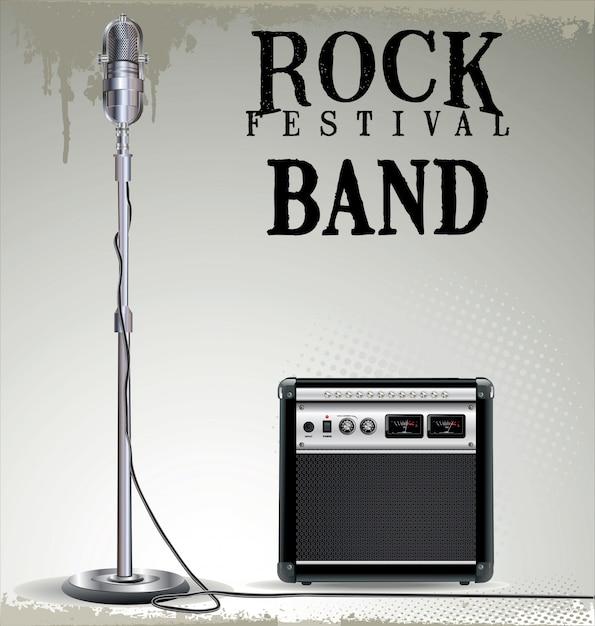 Sfondo concerto rock Vettore Premium