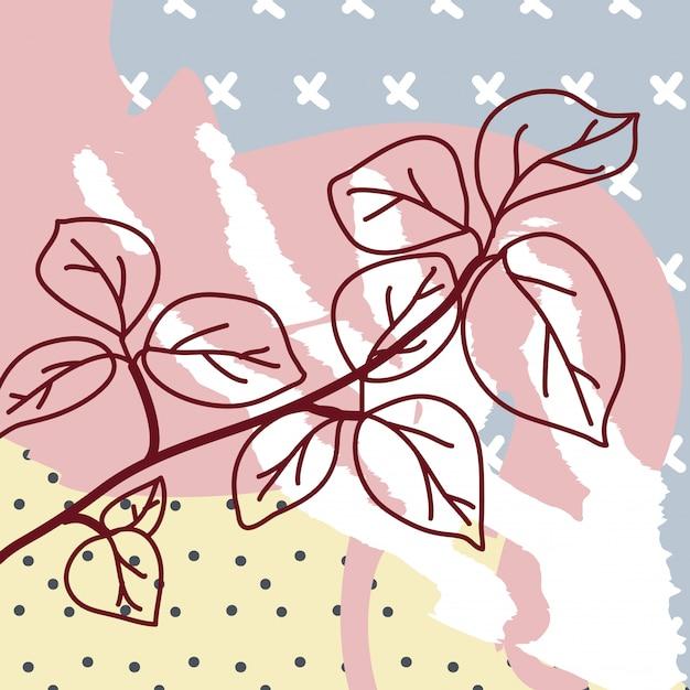 Sfondo contemporaneo con fiori Vettore Premium