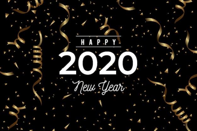 Sfondo coriandoli nuovo anno 2020 Vettore gratuito